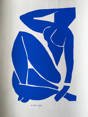 HENRI MATISSE ~ The Cut Outs ~ Blue Nude III 1952 - By James Wilson