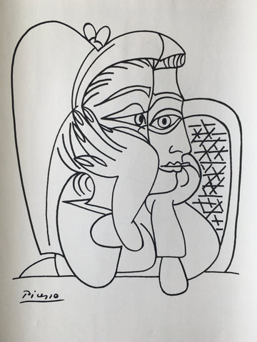 Picasso - Portrait de Jacqueline Accoudée 1959 - By James Wilson