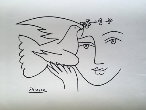 Pablo Picasso - Face With Dove Of Peace 1950 - By James Wilson