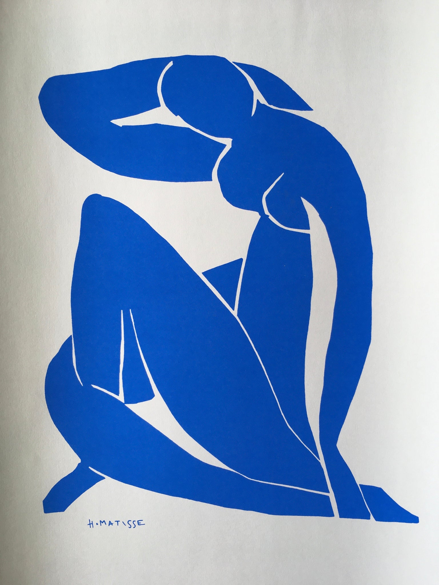 HENRI MATISSE ~ The Cut Outs ~ Blue Nude II 1952 - By James Wilson