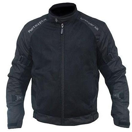MotoTech Scrambler Air Motorcycle Jacket - Black