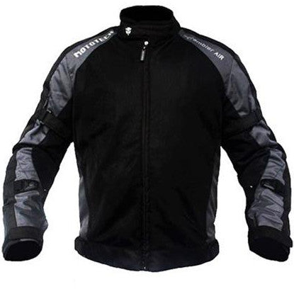 MotoTech Scrambler Air Motorcycle Jacket Grey