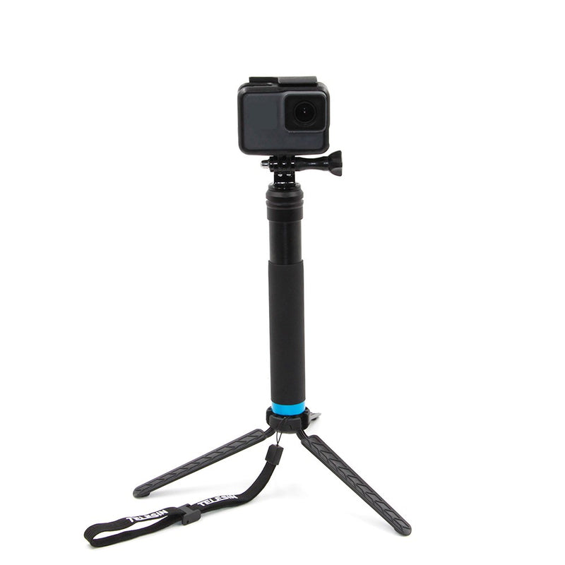 Selfie Stick with Aluminium Tripod Stand for GoPro, ActionCams