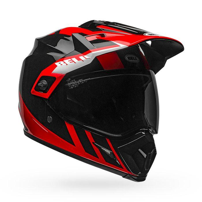 Bell MX-9 Adventure MIPS Dash Helmet - Red Black White