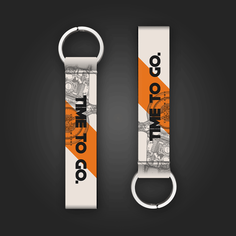 Time to Go - Keytag