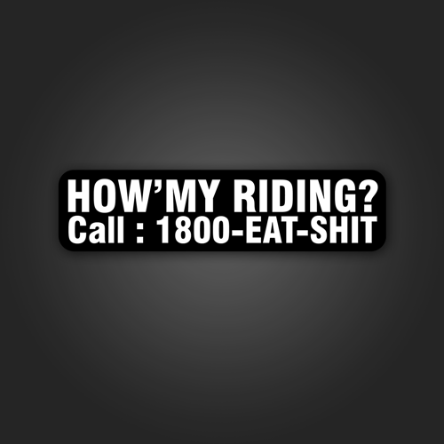 How'my Riding - Sticker