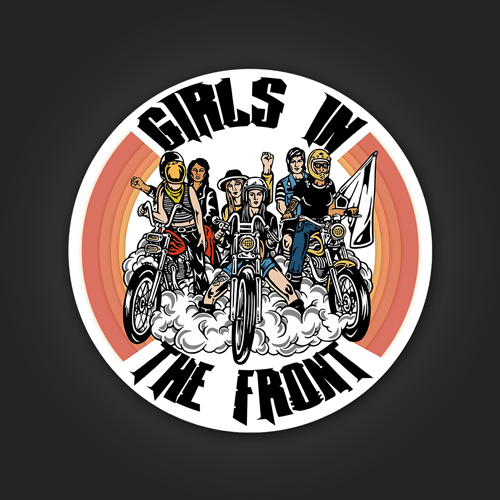 Girls In The Front - Sticker