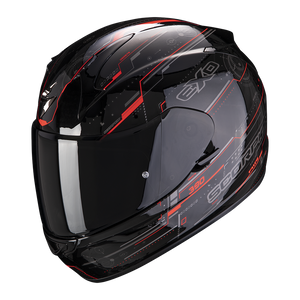 SCORPION EXO-390 BEAT BLACK-RED