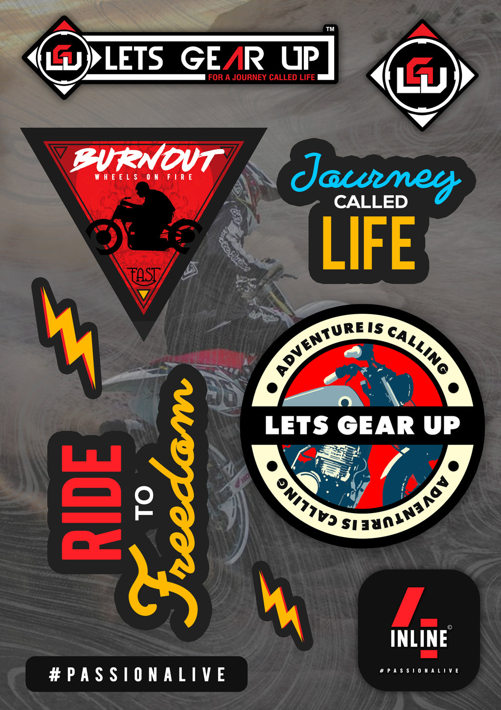 Lets Gear Up Sticker Set