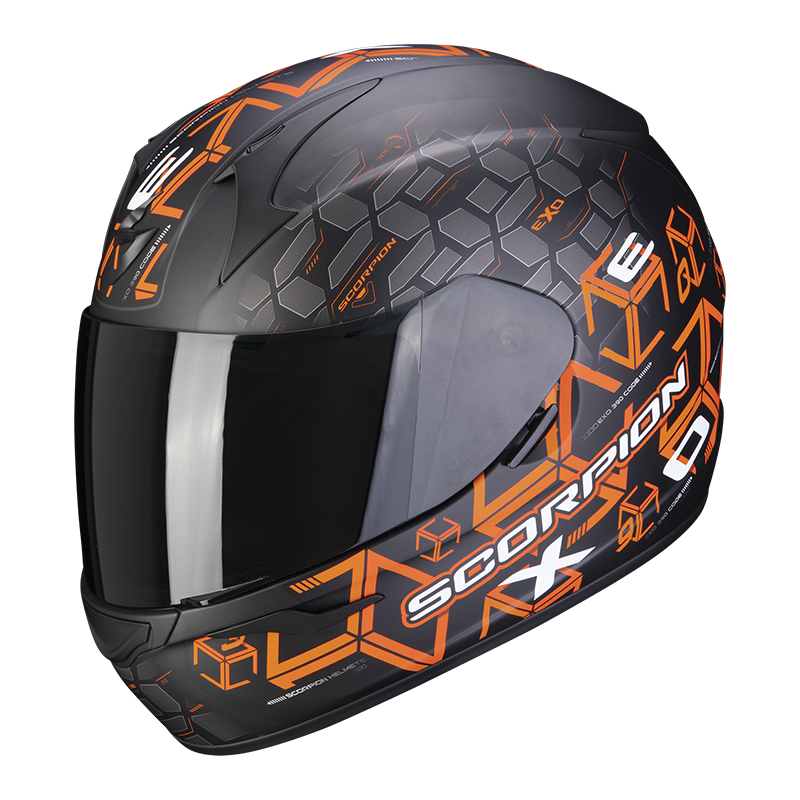SCORPION EXO-390 CUBE BLACK ORANGE