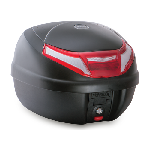 Givi - E30RN Monoloock Top Case Black & Red Reflectors