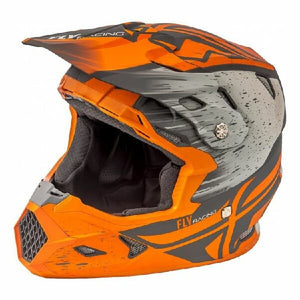 Fly Racing Toxin Resin MIPS Embargo Dirt Gloss Khaki Orange Motocross Helmet