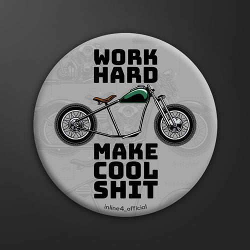 Work Hard - Badge