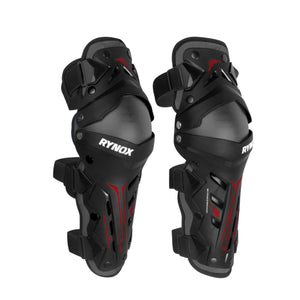 RYNOX BASTION BIONIC KNEE GUARDS - BLACK RED