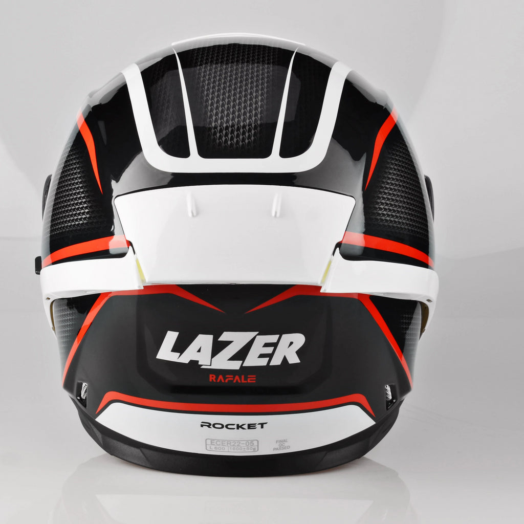 Lazer Rafale Rocket Red- Black Red- Dark Grey- White
