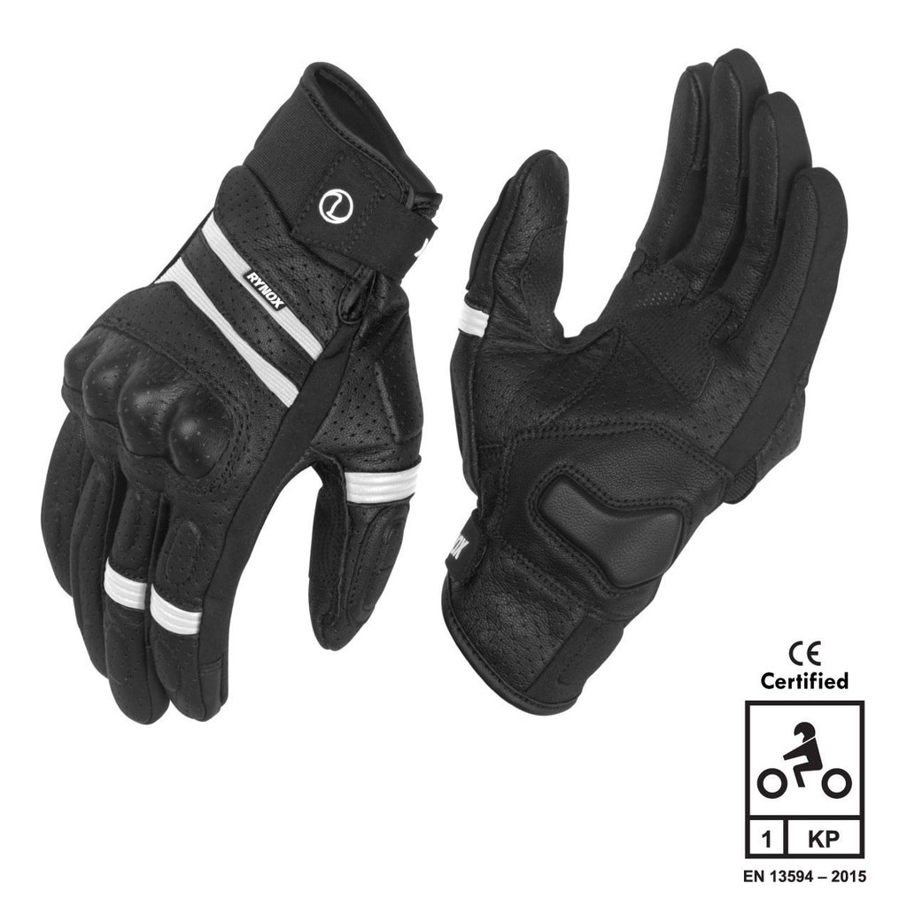 Rynox Air GT Motorsports Gloves B/W