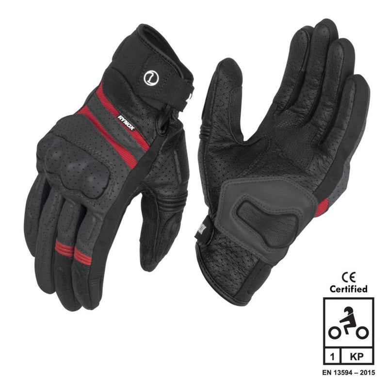 RYNOX AIR GT GLOVES GREY RED