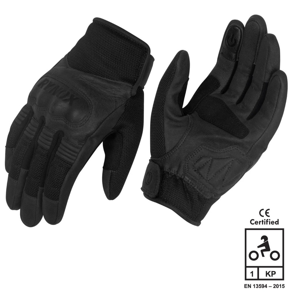 RYNOX URBAN GLOVES - BLACK