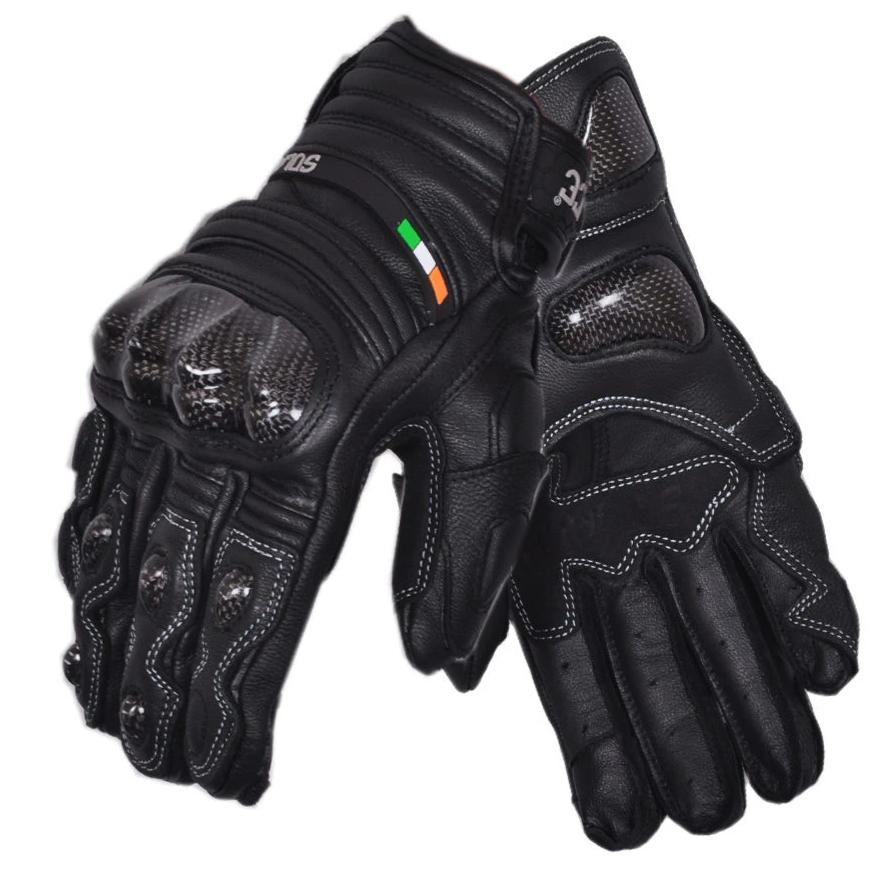 Solace Carbontec Semi Gauntlet Leather Gloves