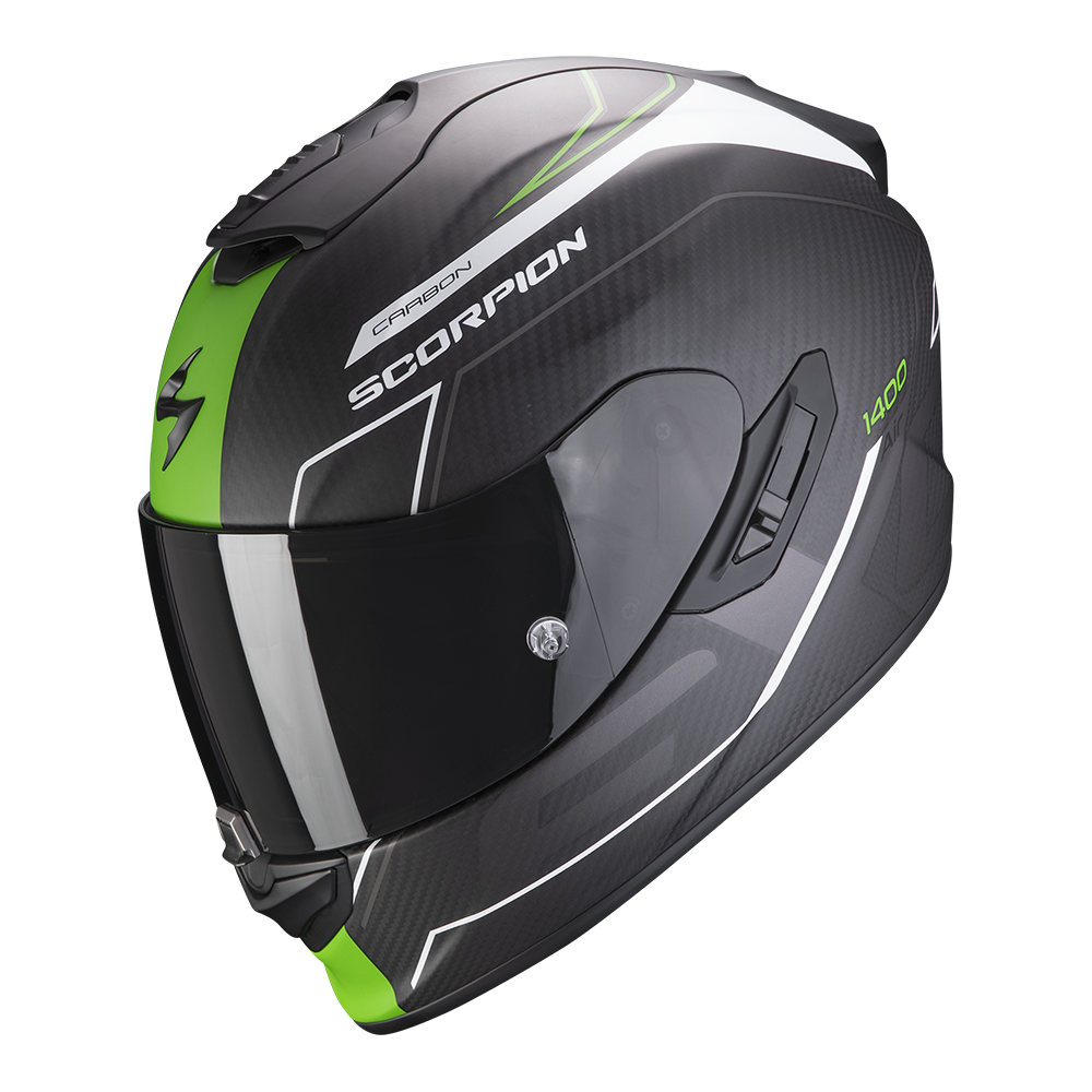 SCORPION EXO-1400 AIR CARBON BEAUX WHITE GREEN