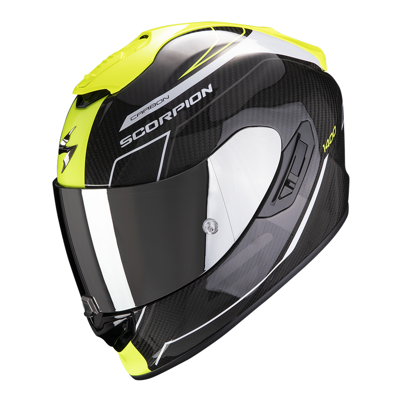 SCORPION EXO-1400 AIR CARBON BEAUX WHITE YELLOW