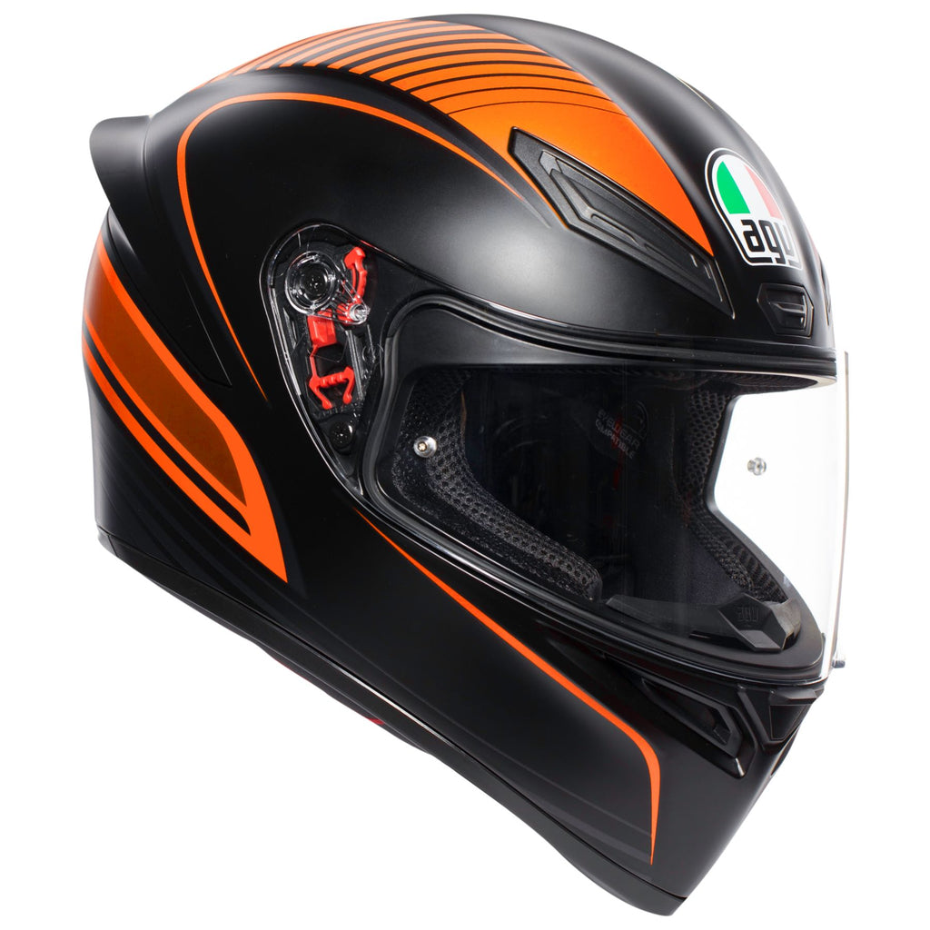 K1 AGV E2205 Multi-Warmup Matt Black Orange