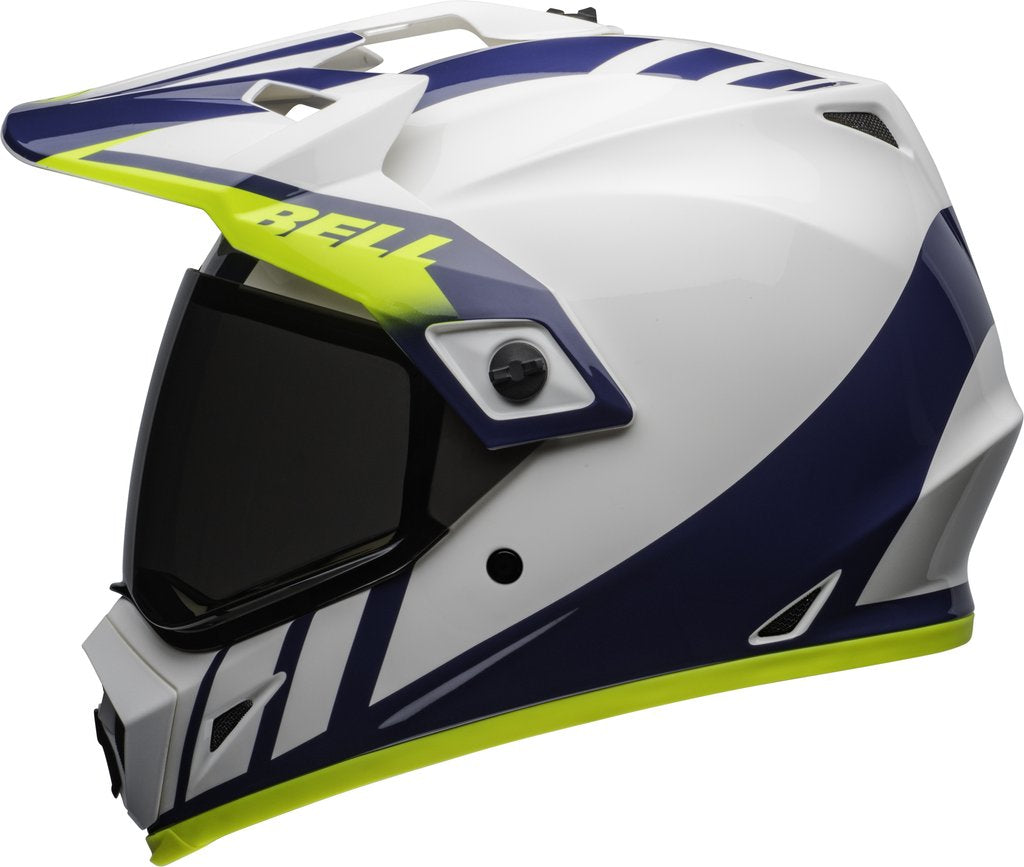 Bell MX-9 Adventure MIPS Dash Helmet - White Blue Hi-Viz