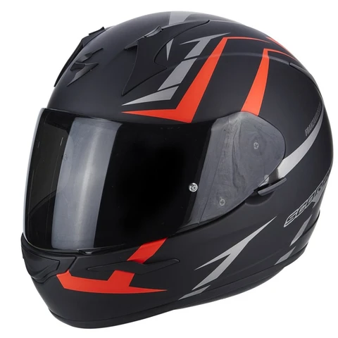 SCORPION EXO-390 HAWK MATT BLACK - HI-VIZ RED
