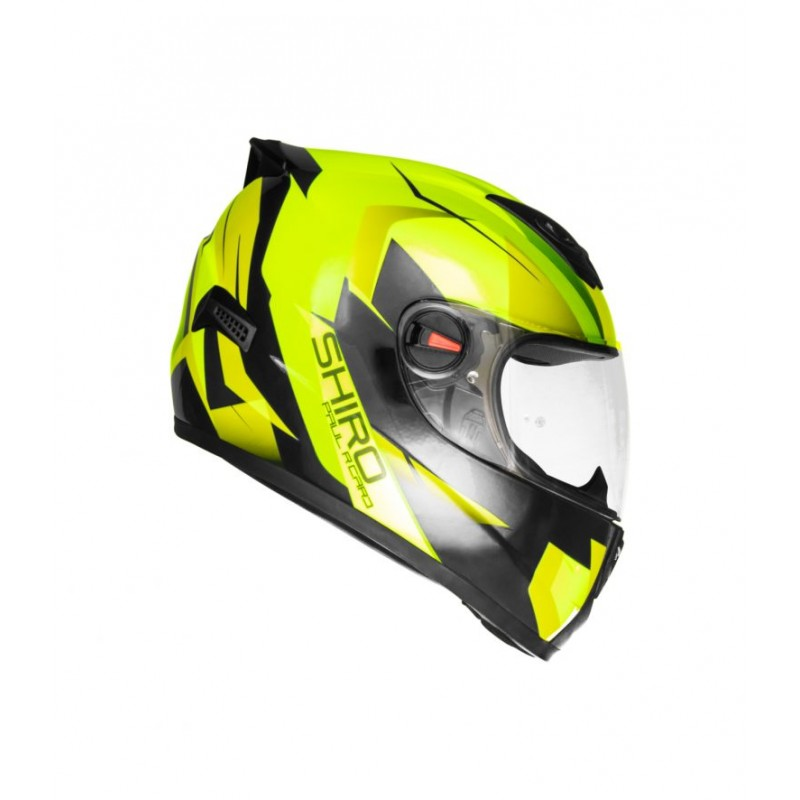 Shiro Helmet - SH-821 - Paul Ricard - Gloss Fluro Yellow