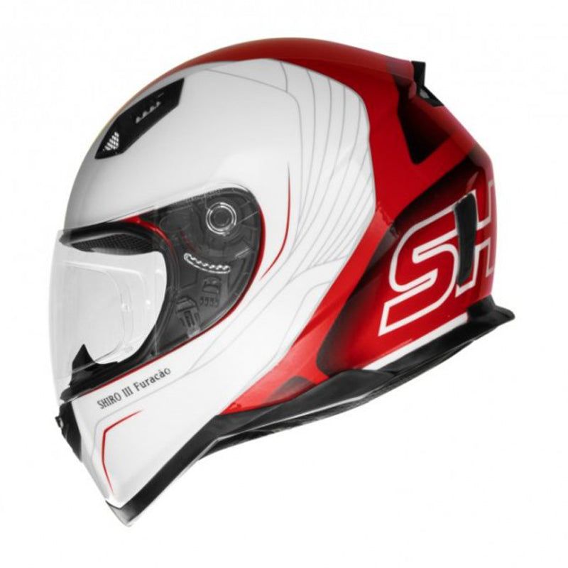 Shiro Helmet - SH-881 - Furacao - Gloss White Red