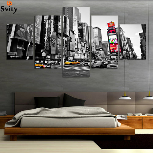 2016 Hot Sales Without Frame 5 Panels Picture New York City HD Canvas Print Painting Artwork Wall Art Canvas painting Wholesale