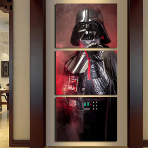 3 Panel Movie Star Wars Black Knight Darth Vader Modern Home Wall Decor Canvas Picture Art HD Print Painting On Canvas Artworks