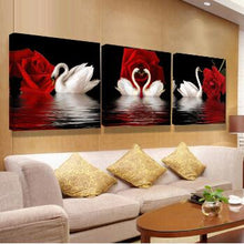 Load image into Gallery viewer, flower canvas print oil pictures modular painting on modern abstract paintings 3 pieces piece wall picture art work for bilder