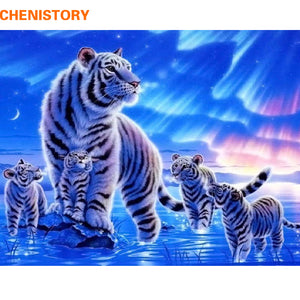 CHENISTORY Leopard DIY Painting By Numbers Animals Paint By Numbers Home Wall Art Picture Calligraphy Painting 40x50cm Artwork