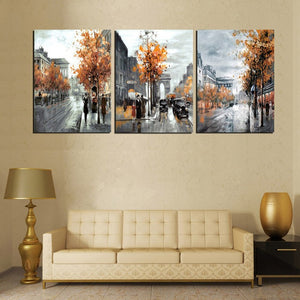 Poster Modular Pictures Canvas Artwork Painting Framework Modern 3 Panel City Landscape Wall Art Living Room Decorative