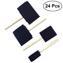 Load image into Gallery viewer, 24Pcs Foam Paint Brush Set Wood Handle Sponge Painting Brush for Kids
