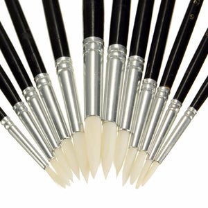 12pc Artist Drawing Paint Brush Set Watercolor Acrylic Oil Painting Supplies Set