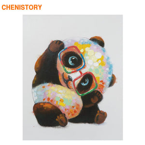 CHENISTORY Frame Chinese Panda DIY Painting By Numbers Modern Home Wall Art Picture Coloring By Numbers For Home Decor Artwork