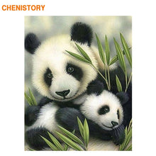 Load image into Gallery viewer, CHENISTORY Frame Chinese Panda DIY Painting By Numbers Modern Home Wall Art Picture Coloring By Numbers For Home Decor Artwork