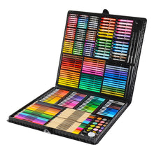 Load image into Gallery viewer, 163/260pcs Kids Drawing Set Student Watercolor Palette Brush Pen Painting Tool Box Kids Gift Box Art Supplies