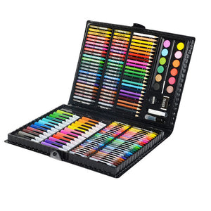 163/260pcs Kids Drawing Set Student Watercolor Palette Brush Pen Painting Tool Box Kids Gift Box Art Supplies