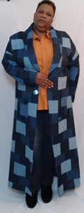 Long Denim Patchwork Duster