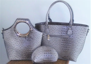 3-in-1 Soft Faux Snakeskin Purse Collection