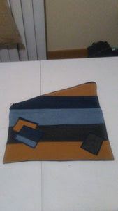 Denim Patchwork Fold Over Clutches
