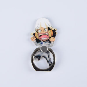 One Piece Luffy Straw Hat Sanji 360 Degree Metal Finger Ring Mobile Phone Smartphone Stand Holder for iphone ipad