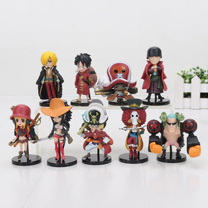 9Pcs/set One Piece Action Figures Luffy Zoro Nami Usopp Sanji, Chopper ,Robbin,Franky Brook  Toys