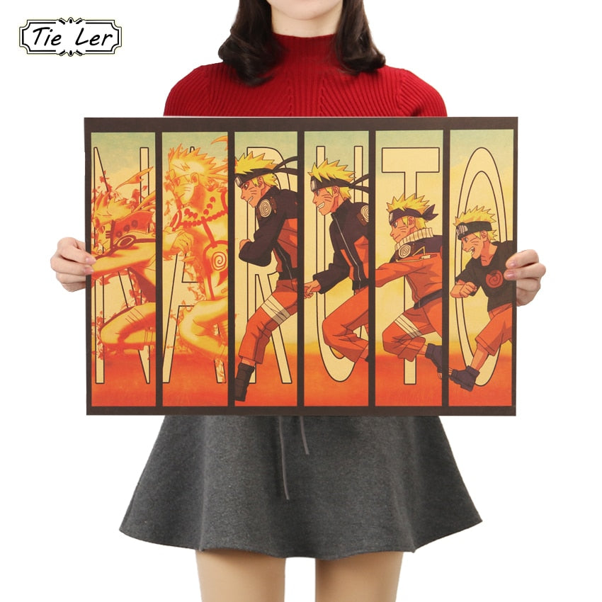 Naruto Vintage Poster For Home Decor Wall Sticker