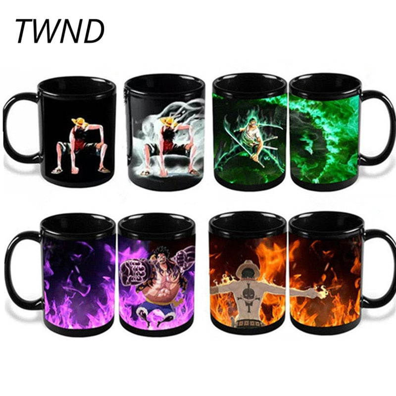 One Piece Color Changing Coffee Mug Luffy Zoro Ace 10