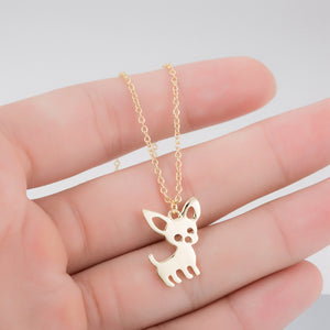 Cute Chihuahua Pet Pendant Necklace