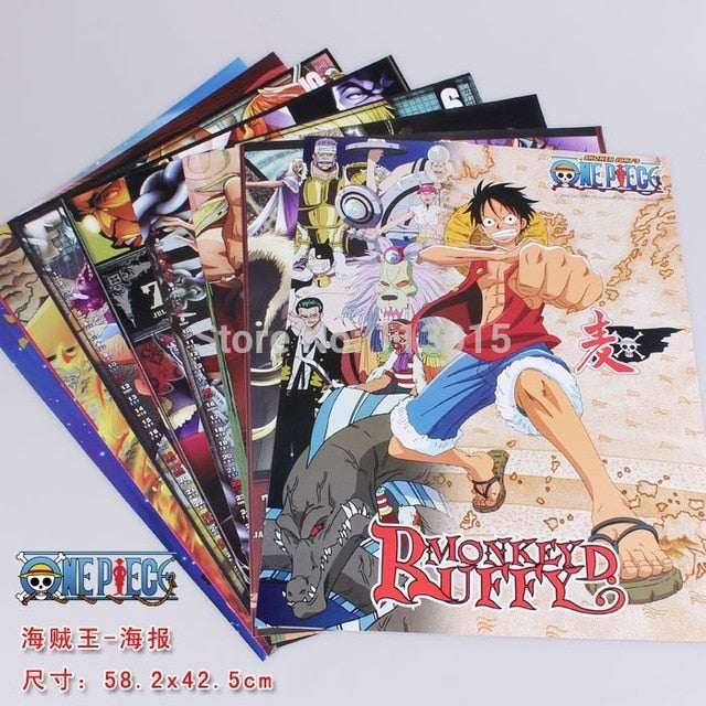 10 PCS/LOT ONE PIECE Wanted Posters Newest Anime Posters